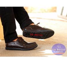 B A E WEAH Sepatu Boots Pria  Sepatu boots Kulit  Dr.Becco ZAPATO ( COKLAT )