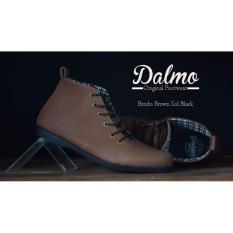 Spek B A E Weah Sepatu Brodo Dalmo Boots Dalmo Original Coklat Hitam