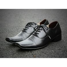 Cara Beli B A E Weah Sepatu Pantofel Pria Formal Sepatu Kulit Asli Pria Pantofel Cevany Phelix Hitam