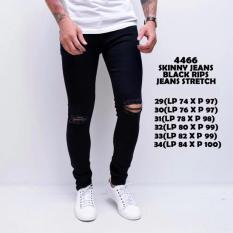 B & R SHOP - Celana Jeans Lois Pria Sobek Ripped Strecth Model Skinny Warna Hitam / Jeans Robek /Jeans Sobek / Jeans Ripped / Jeans Ngaret / Jins Sobek / Jins Ripped / Jins Robek / Skinny Rpped / Skinny Robek / Skinny Sobek