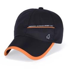 b0d0 panas kolam QSL topi baru musim semi dan musim panas anti uv kecepatan kering topi pria wanita beberapa topi baseball (black)-Intl