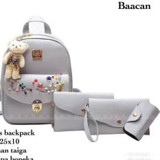 Tas Ransel Wanita Korea style Elegan/Backpack Fashion Wanita/Tas sekolah Anak Murah/