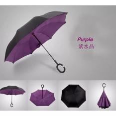 Jual Babamu Payung Terbalik 2 Lapis Gagang C Reverse Umbrella Tombol Merah Ungu Branded