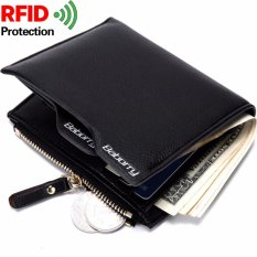 Obral Baborry Men Wallet Fashion Pu Man Purse With Zip Coin Bag Rfid Theft Protection Intl Murah