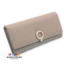 Spesifikasi Korean Fashion Style Babosarang Dompet Wanita Circle Lock Korean Fashion Style Clutch Leather Long Wallet Purse Handbag Bag With Zipper Baru