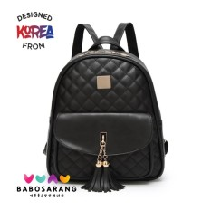 Korean Fashion Style Babosarang Tas Ransel Batam Wanita Backpack Cewek Fashion Kasual Korea Multifungsi BS09
