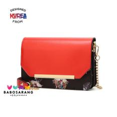 Korean Fashion Style Babosarang Tas Batam Selempang Clutch Wanita Cewek  Korea Fashion Multifungsi Bahan PU Leather 91baafcb31