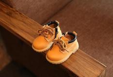 Bayi Boots Boys Sepatu Martin Boots Lembut Bawah (Kuning)-Intl