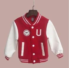 Baby Laki-laki Pakaian Anak Laki-laki Jaket 2017 Musim Semi Huruf Anak Laki-laki Lebih Tahan Dr untuk Anak-anak Merek Anak-anak Mantel untuk Anak Lelaki Bisbol Kapas-Intl