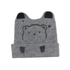 Baby Creative Cartoon Bear Shape Beanie Hat Bernapas Lucu Cap untuk Musim Gugur Musim Dingin Warna: Abu-abu-Intl