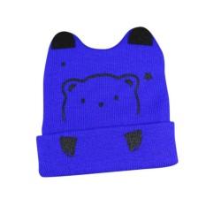 Baby Creative Cartoon Bear Shape Beanie Hat Bernapas Lucu Cap untuk Musim Dingin Musim Gugur Warna: Angkatan Laut Biru-Intl