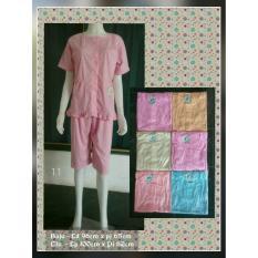 Baby doll kancing full, setelan baju tidur pendek kancing busui menyusui, piyama wanita cantik murah