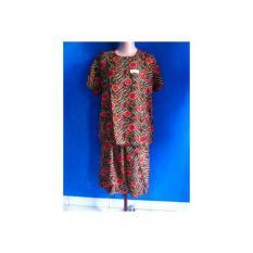 Baby Doll/Setelan Rok Celana Batik Kencana Ungu/Baju Tidur/Pendek KUB