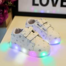Baby Fashion Sneakers LED Luminous Anak Balita Kasual Sepatu Lampu Penuh Warna-Intl