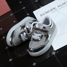 Beli Baby Fashion Bintang Sneaker Led Luminous Anak Balita Casual Light Sepatu Intl Seken