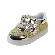 Spek Baby Fashion Bintang Sneaker Led Luminous Anak Balita Casual Light Sepatu Hong Kong Sar Tiongkok