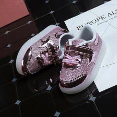 Spesifikasi Baby Fashion Bintang Sneaker Led Luminous Anak Balita Casual Light Sepatu Yang Bagus