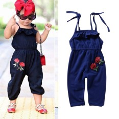 Kidlove Baby Girl Sling Jumpsuit Rompers Fashion Flowers Sleeveless Clothes