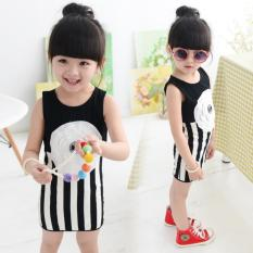 Promo Baby G*rl Striped Dress Baru Putri Gadis Gaun Musim Panas Tanpa Lengan Bayi Kids Cotton Pakaian Intl Akhir Tahun
