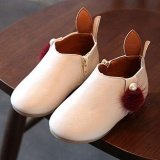 Cuci Gudang Baby G*rl Putri Zipper Rabbit Ear Casual Ball Pendek Bernapas Baru Boots I132 Warna Beige Intl