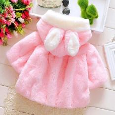 Bayi Bayi Girls Autumn Winter Hooded Mantel Mantel Jaket Tebal Hangat Pakaian-Intl By Zapramoon.