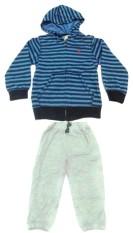 Baby-Show Setelan Hoodie Stripe - Biru