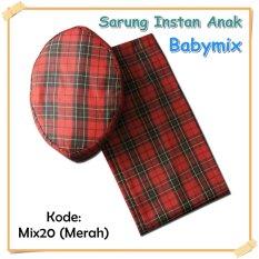 Harga Babymix Sarung Anak Instant Kode Mix 20 Merah Asli