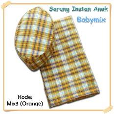 Ulasan Babymix Sarung Anak Instant Kode Mix 3 Orange