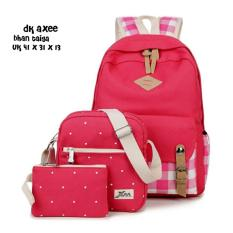 Jual Backpack 3 In 1 Square Pocket With Belt Backpack Tas Ransel Sling Bag Tas Selempang Pouch Dompet Red Non Brand Grosir