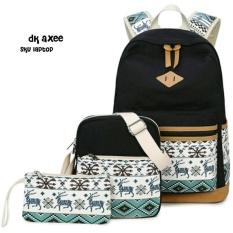Backpack 3 in 1 Tribal Deer (Backpack / Tas Ransel, Sling Bag / Tas