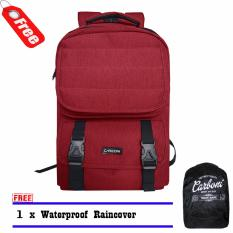 Harga Backpack Carboni Tas Ransel Aa0051 Original 17 Red Raincover Carboni Original