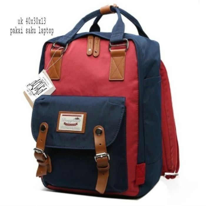 Backpack Korean Style Dough Combination 2 Colors / Tas Ransel Wanita Korean Style