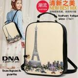 Jual Backpack Korean Style Eiffel Tas Ransel Wanita Korean Style Multicolor Non Brand