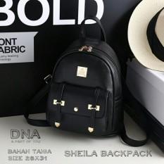 Backpack Korean Style Sheila / Tas Ransel Wanita Korean Style -  Black