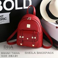 Backpack Korean Style Sheila / Tas Ransel Wanita Korean Style -  Red