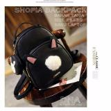 Beli Backpack Korean Style Shopia 2 In 1 Backpack Pouch Tas Ransel Wanita Korean Style Black Pake Kartu Kredit