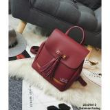 Harga Backpack Korean Style Tas Ransel Fringe Fashion Maroon Branded
