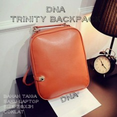 Backpack Korean Style Trinity / Tas Ransel Wanita Korean Style - Brown