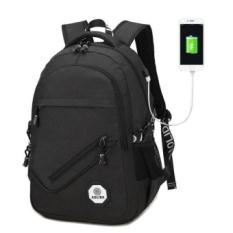 Ransel Pria Wanita Tas Kanvas Ransel Pria USB Perjalanan Desainer Kapasitas Pria Ransel untuk Sekolah Gadis