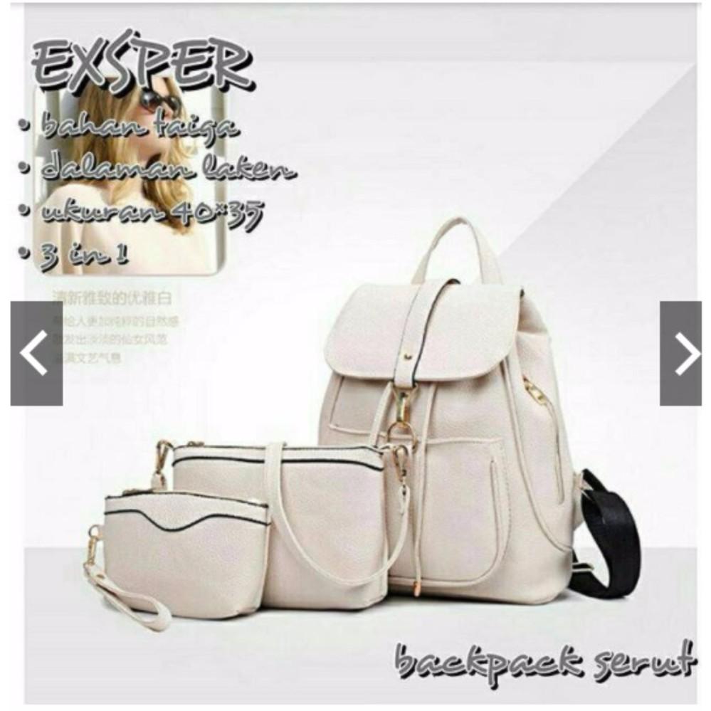 Mini Ransel Lucu Tas Ransel Sling Bag Tas Slempang Backpack ransel kulit 3in1 .