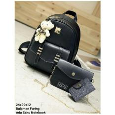 Rp 70.000. Backpack Set Chain Strap 3 in 1 (Backpack / Tas Ransel, Sling Bag ...