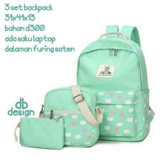 Rp 65.000. Backpack Set Kitten Pocket 3 in 1 (Backpack / Tas Ransel ...
