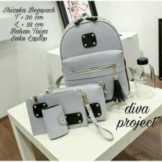 Harga Backpack Shizuka 4 In 1 Abu Abu Original