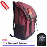 Review Terbaik Backpack Tas Ransel Carboni Aa0086 17 Inchi Original Red Raincover