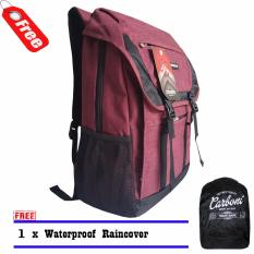 Harga Backpack Tas Ransel Carboni Aa0086 17 Inchi Original Red Raincover Murah