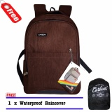 Backpack Tas Ransel Carboni Ra00016 Mf Orifginal Coffee Raincover Logo Murah