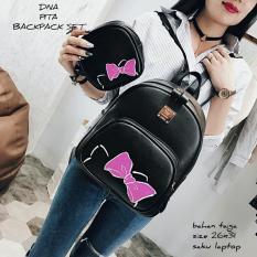 Backpack Tas Ransel Korean Style 2 In 1 Hello Kitty Head Backpack Tas Ransel Pouch Black No Brand Diskon