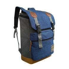 Spesifikasi Backpack Tas Ransel Pria Korean Unisex Import Design 17 Inchi 2916 17 Zv Polyester Canvas Blue Raincover Waterprooff Monic