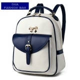 Jual Backpack Women Tas Ransel Wanita Little Gold Ribbon Colour Combination Navy Blue Di Bawah Harga