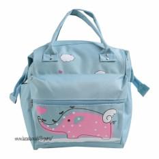 Review Toko Backpack Women Tas Punggung Tas Ransel Ransel Travelling Tas Sekolah Ransel Sekolah Wanita 3P Karakter Gajah Light Blue